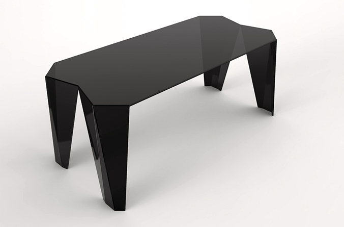 rendering origami table